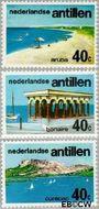 Nederlandse Antillen NA 518#520  1976 Toerisme  cent  Gestempeld