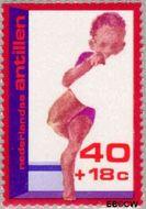 Nederlandse Antillen NA 527  1976 Kinderverzorging 40+18 cent  Gestempeld