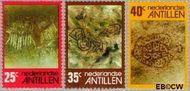 Nederlandse Antillen NA 534#536  1977 Rotstekeningen  cent  Gestempeld