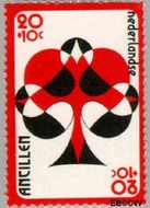Nederlandse Antillen NA 537  1977 Bridge-toernooi Aruba 20+10 cent  Gestempeld