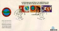Nederlandse Antillen NA E121a  1979 Vergadering P.A.H.O. 100 cent  FDC zonder adres