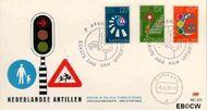 Nederlandse Antillen NA E75  1973 Veilig verkeer  cent  FDC zonder adres
