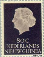 Nieuw-Guinea NG 35  1955 Type 'En Profile' 80 cent  Gestempeld