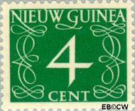 Nieuw-Guinea NG 5  1950 Type 'van Krimpen' 4 cent  Gestempeld