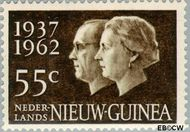 Nieuw-Guinea NG 75  1962 25 jarig huwelijksjubileum Juliana en Bernhard 55 cent  Gestempeld