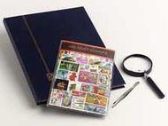 Postzegelpakket Oost Europa inc.insteekboek,pincet en loupe