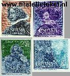 SPA 1239#1242 Postfris 1961 Vélazquez, Diego Rodriguez de Silva