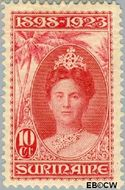 Suriname SU 105  1923 Regeringsjubileum Wilhelmina 1898-1923 10 cent  Gestempeld