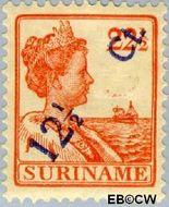Suriname SU 115  1926 Hulpuitgifte 12½ op 22½ cent  Gestempeld