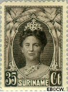 Suriname SU 126  1927 Gewijzigd jubileum-type 35 cent  Gestempeld