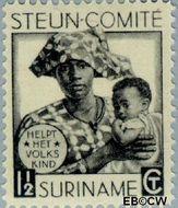 Suriname SU 146  1931 Steuncomité 1½+1½ cent  Gestempeld