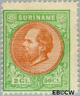Suriname SU 15  1879 Eerste emissie 250 cent  Gestempeld