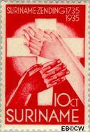 Suriname SU 156  1935 Zendingswerk 10+5 cent  Gestempeld