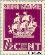 Suriname SU 166  1936 Scheepje 7½ cent  Gestempeld