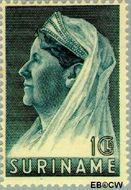 Suriname SU 176  1936 Wilhelmina met sluier 100 cent  Gestempeld