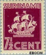 Suriname SU 196  1941 Scheepje 7½ cent  Gestempeld