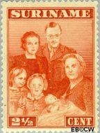 Suriname SU 206  1943 Bezoek Prinses Juliana 2½ cent  Gestempeld
