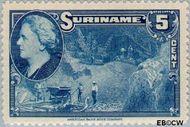 Suriname SU 226  1945 Wilhelmina en landschappen 5 cent  Gestempeld