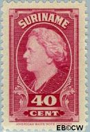 Suriname SU 236  1945 Koningin Wilhelmina 40 cent  Gestempeld