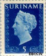 Suriname SU 257  1948 Koningin Wilhelmina 5 cent  Gestempeld