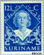 Suriname SU 277  1948 Inhuldiging Juliana 12½ cent  Gestempeld