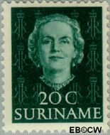 Suriname SU 287  1951 Type 'En Profile' 20 cent  Gestempeld