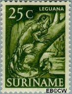Suriname SU 307  1953 Inheemse voorstellingen 25 cent  Gestempeld