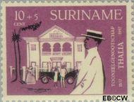 Suriname SU 327  1958 Toneelgezelschap Thalia 10+5 cent  Gestempeld