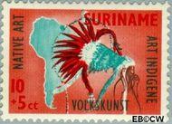 Suriname SU 337  1960 Opening nieuw postkantoor 10+5 cent  Gestempeld