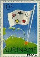 Suriname SU 347  1959 Statuut voor het Koninkrijk 15 cent  Gestempeld