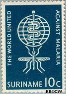 Suriname SU 385  1962 Werk World Health Organisation 10 cent  Gestempeld