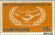 Suriname SU 425  1965 Internationaal Samenwerkingsjaar 10 cent  Gestempeld