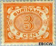 Suriname SU 45  1902 Drukwerkzegel 3 cent  Gestempeld