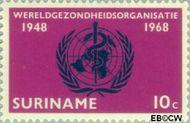 Suriname SU 495  1968 World Health Organisation 10 cent  Gestempeld