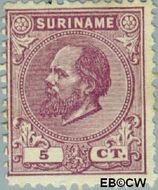 Suriname SU 5  1873 Eerste emissie 5 cent  Gestempeld