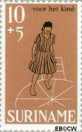 Suriname SU 505  1968 Kinderspelen 10+5 cent  Gestempeld