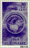 Suriname SU 515  1969 Paasgedachte 30+15 cent  Gestempeld