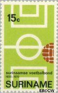 Suriname SU 545  1970 Surinaamse Voetbalbond 15 cent  Gestempeld