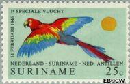 Suriname SU 555  1971 Lijndienst Amsterdam-Paramaribo 25 cent  Gestempeld