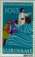 Suriname SU 595  1973 Paassymbolen 10+5 cent  Gestempeld