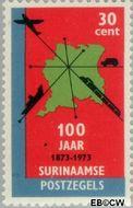 Suriname SU 615  1973 Postzegeljubileum 30 cent  Gestempeld