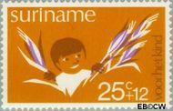Suriname SU 635  1974 Diverse voorstellingen 25+12 cent  Gestempeld