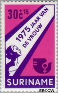 Suriname SU 645  1975 Internationaal Jaar van de Vrouw 30+15 cent  Gestempeld