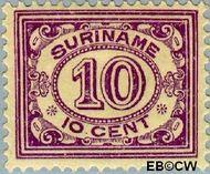 Suriname SU 85  1913 Drukwerkzegel 10 cent  Gestempeld