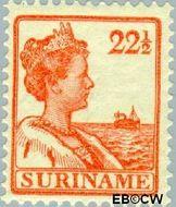 Suriname SU 95  1915 Scheepjes-type 22½ cent  Gestempeld