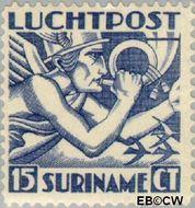 Suriname SU LP2  1930 Mercurius 15 cent  Gestempeld