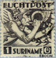 Suriname SU LP22  1941 Mercurius 100 cent  Gestempeld