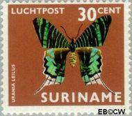 Suriname SU LP50  1972 Vlinders 30 cent  Gestempeld