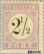 Suriname SU PT1  1886 Port 2½ cent  Gestempeld