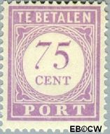 Suriname SU PT31  1913 Port 75 cent  Gestempeld
